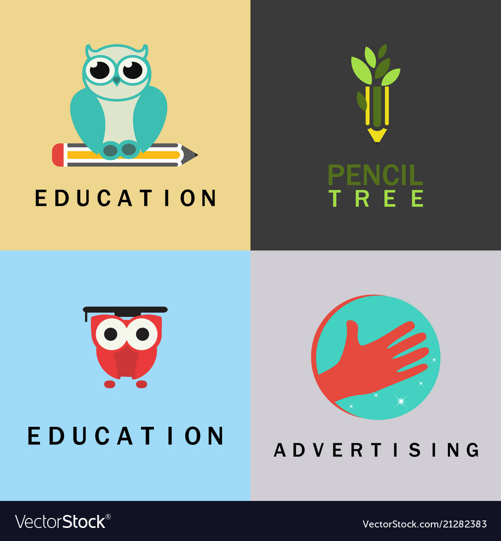 Education logo set