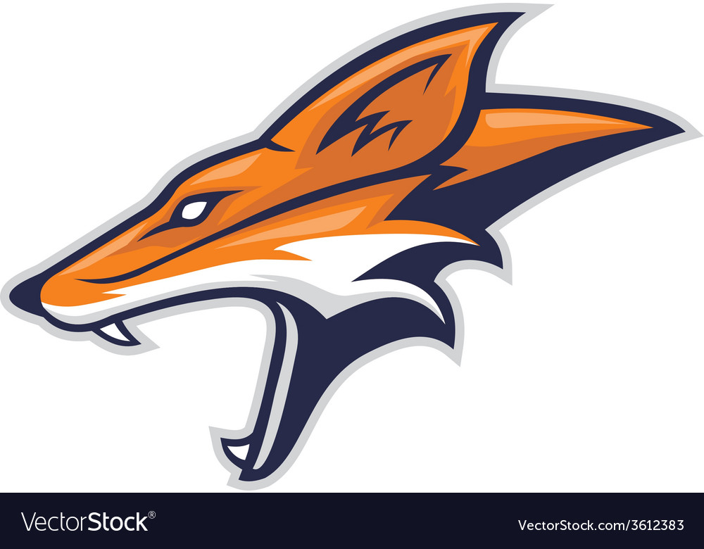 Fox head side vector image