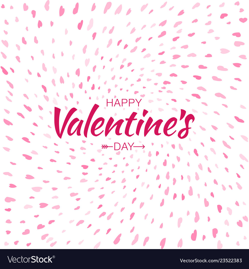 Heart confetti background of valentines petals