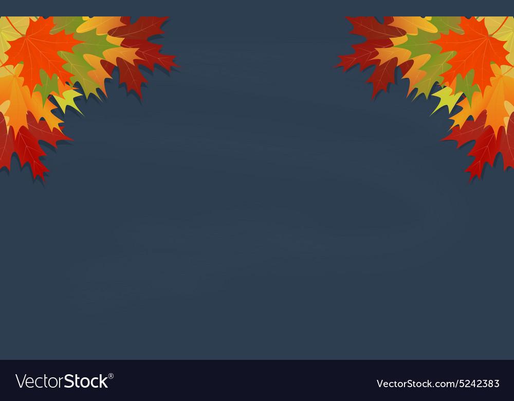 Maple leaves on grey chalkboard