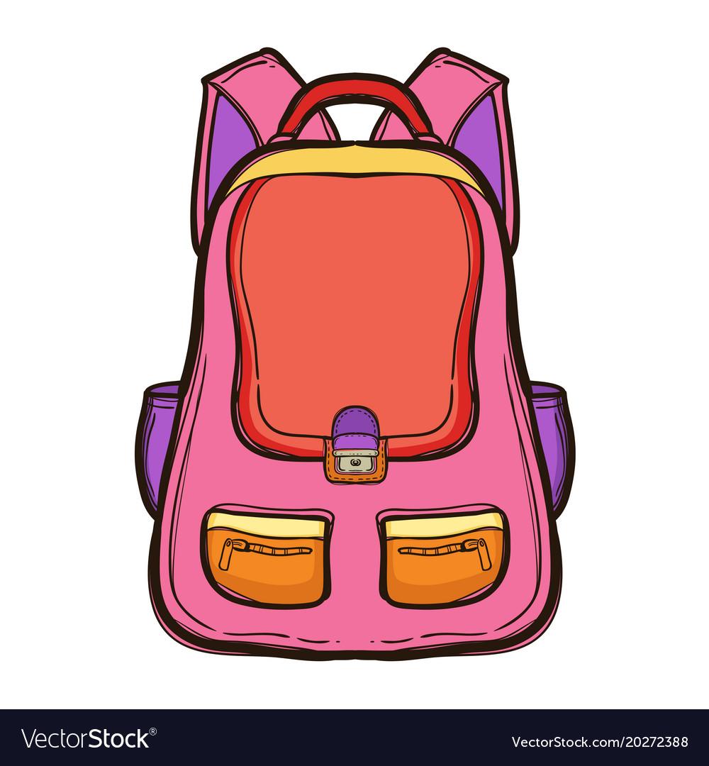 Backpack with school supplies school bag