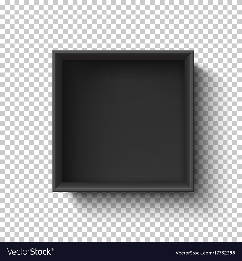 Black Empty Box On Transpa Background Top Vector Image Jpg 1000x1080 Frame