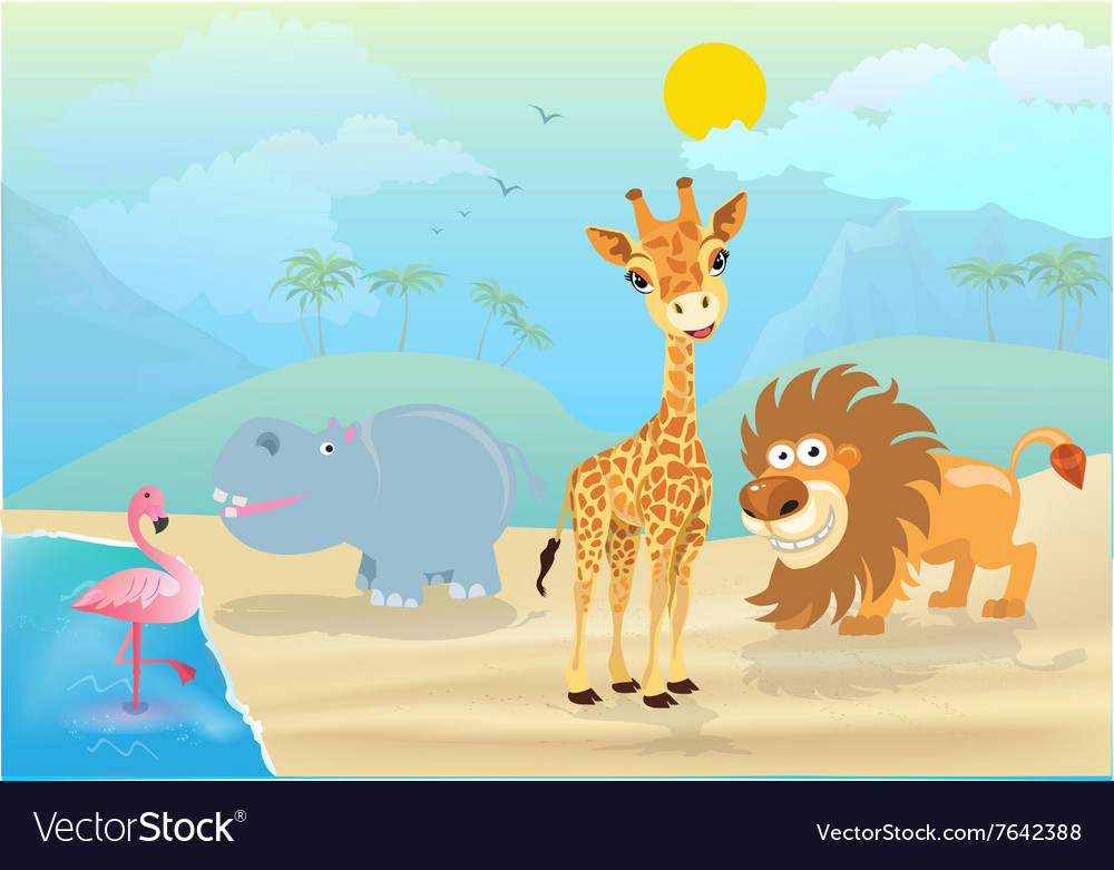 Cute jungle animals and