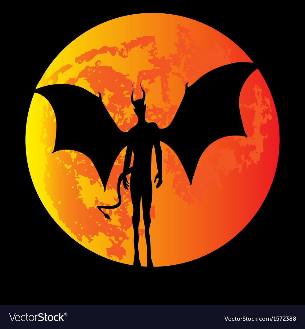 Devil Moon vector image