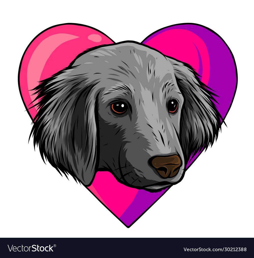 I love dogs icon design