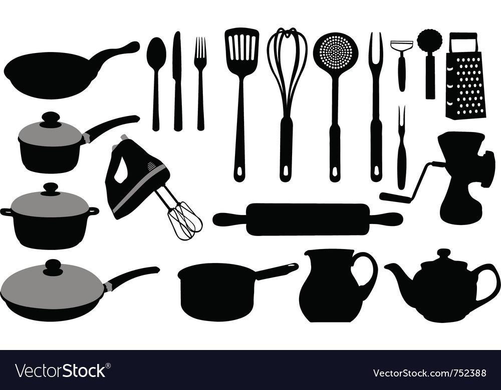 kitchen utensils vector. Kitchen Tools Collage Vector Image Utensils