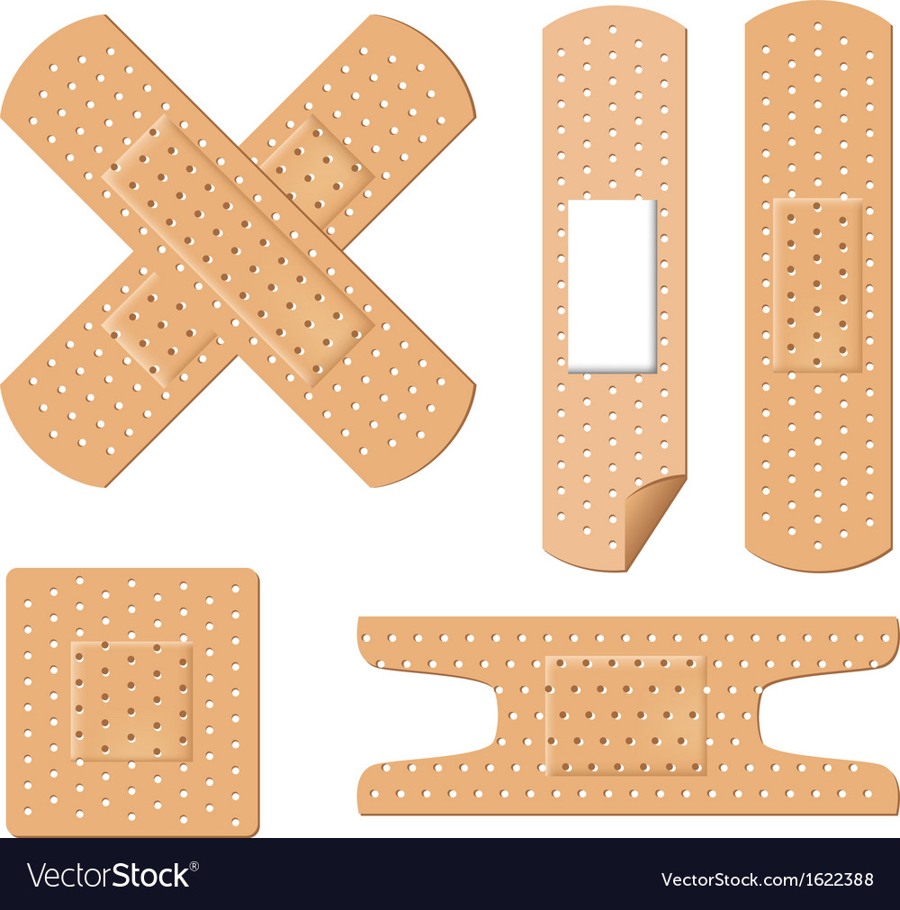 Medical bandages vector image