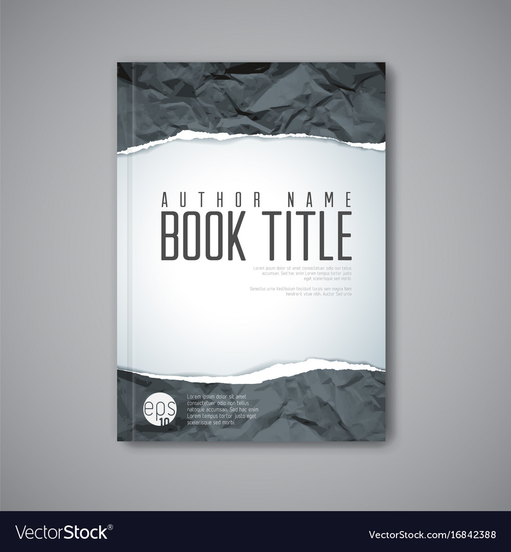modern abstract book cover template royalty free vector