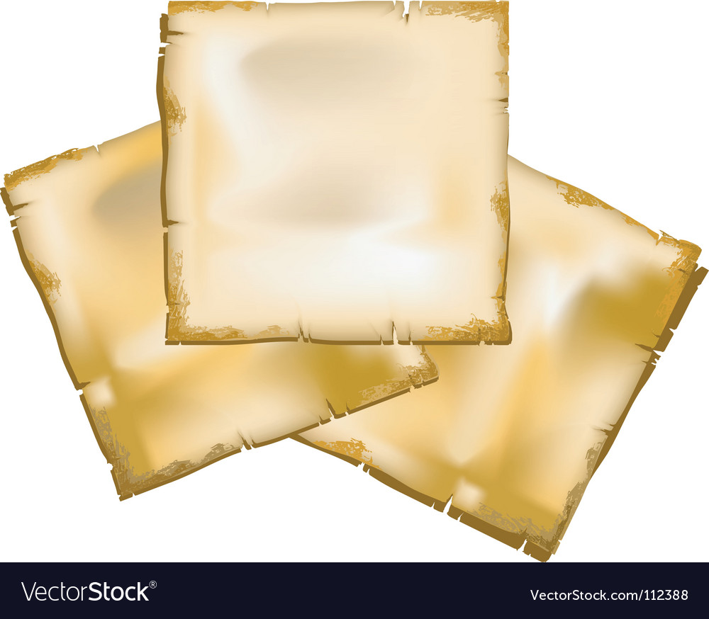 Old sheets of paper vector image