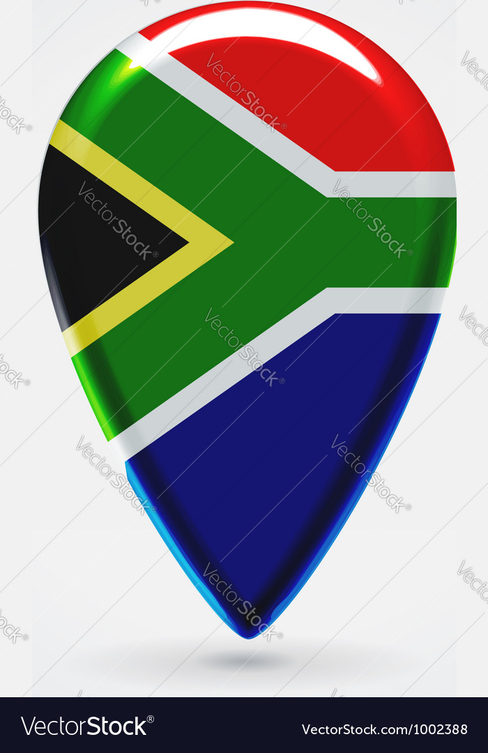 Republic of South Africa icon point for map