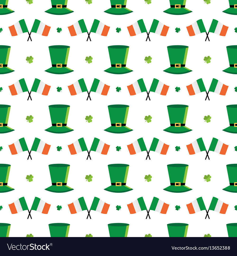St patricks day seamless pattern background
