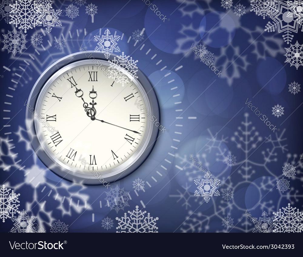 Christmas clock vector image