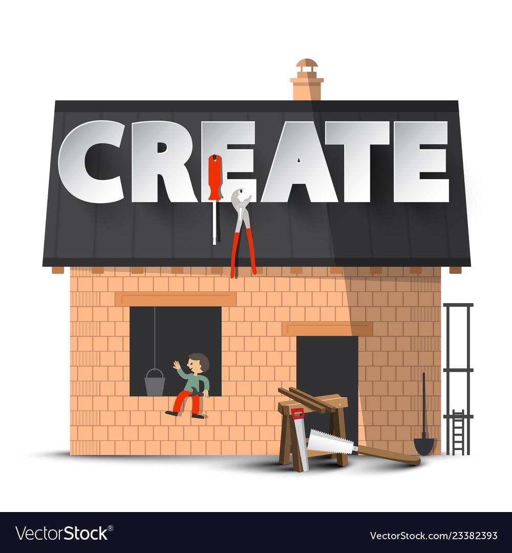 Create creativity diy concept with house