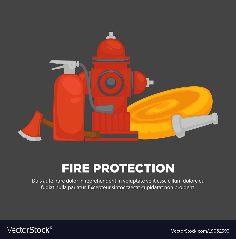 Fire protection promotional poster with special