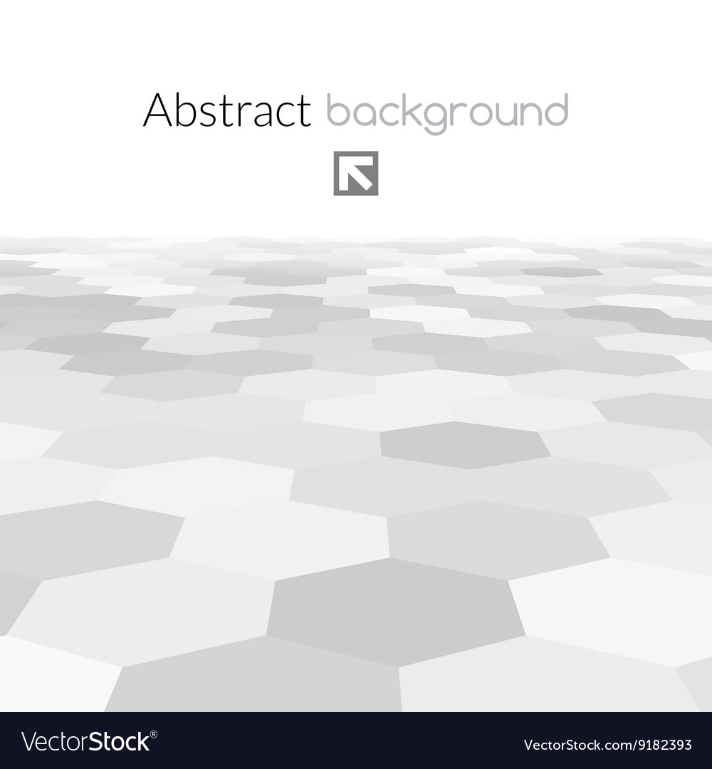 Gray hex grid background texture vector image