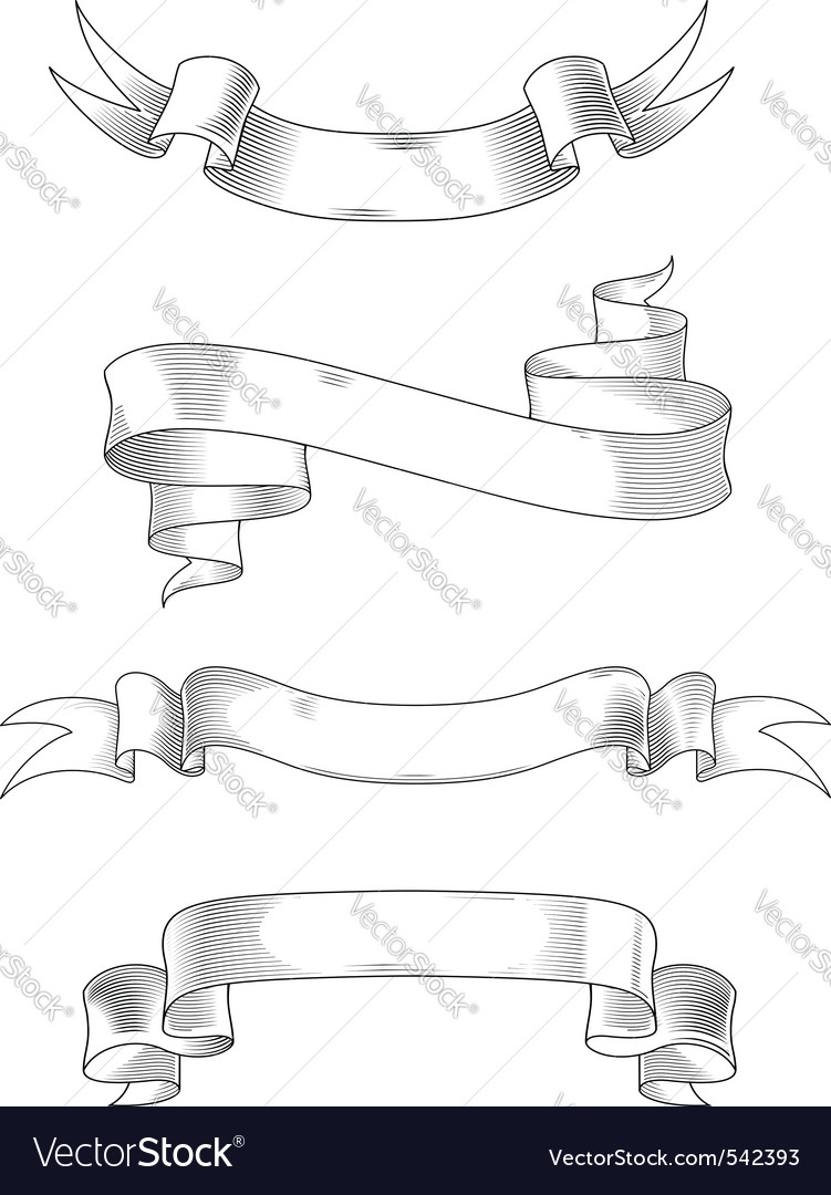 Heraldry ribbons vector image