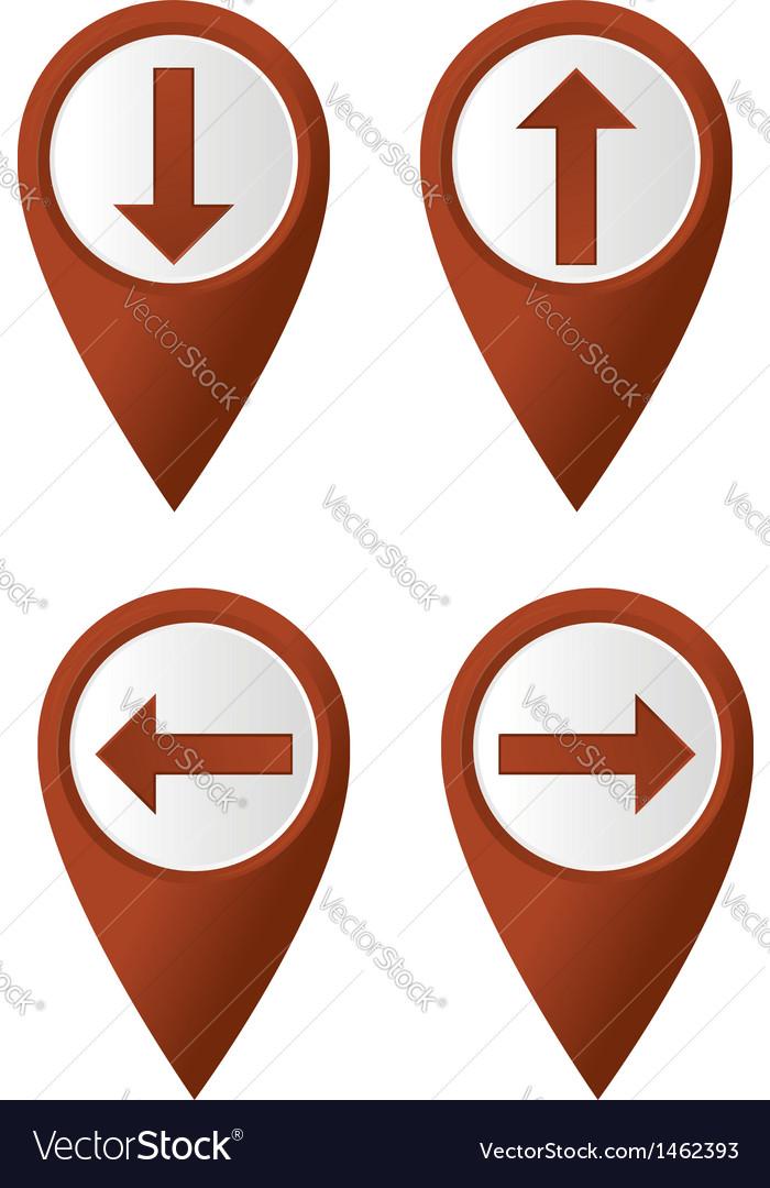Map pointer arrow