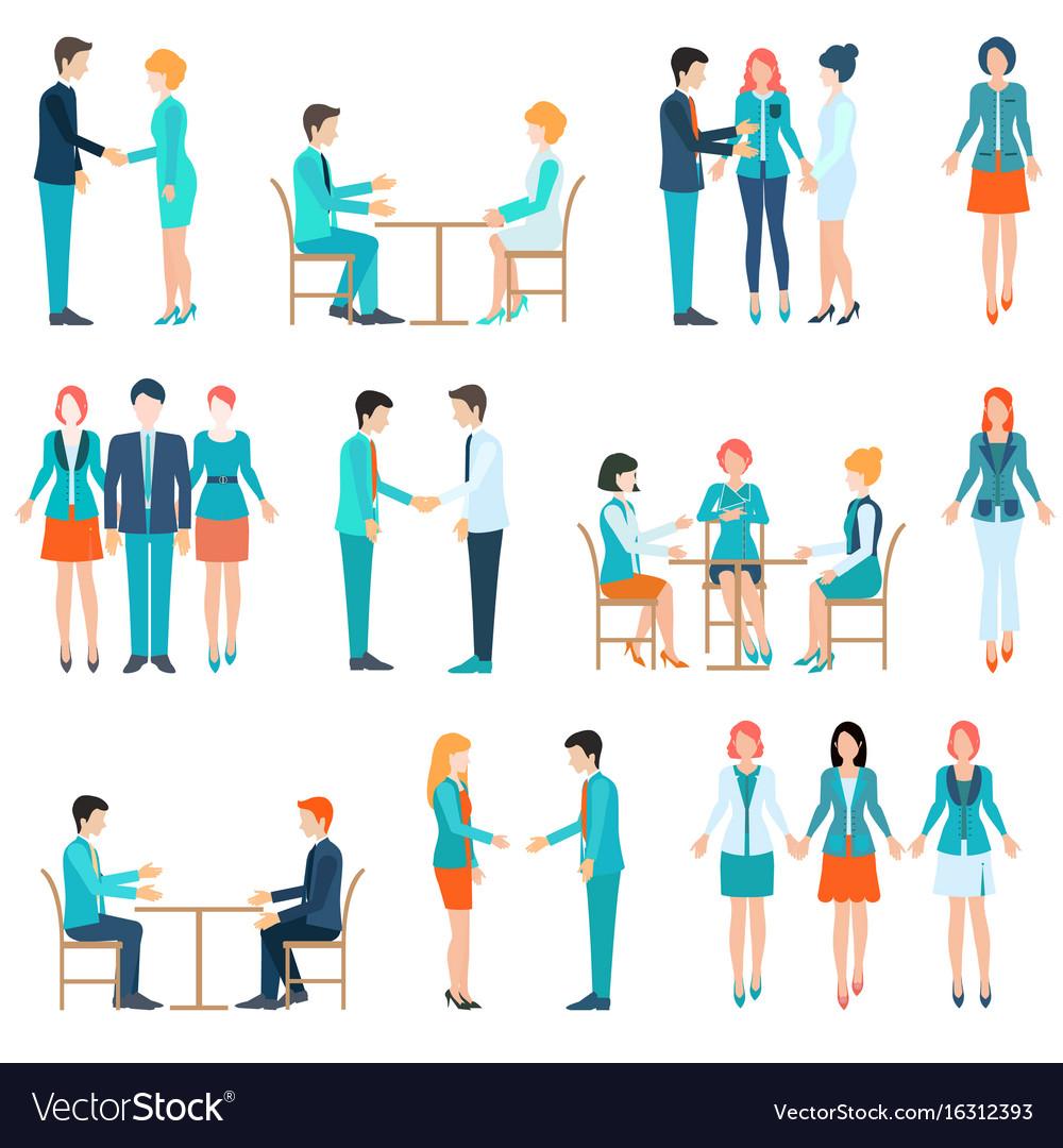 Partnership business people