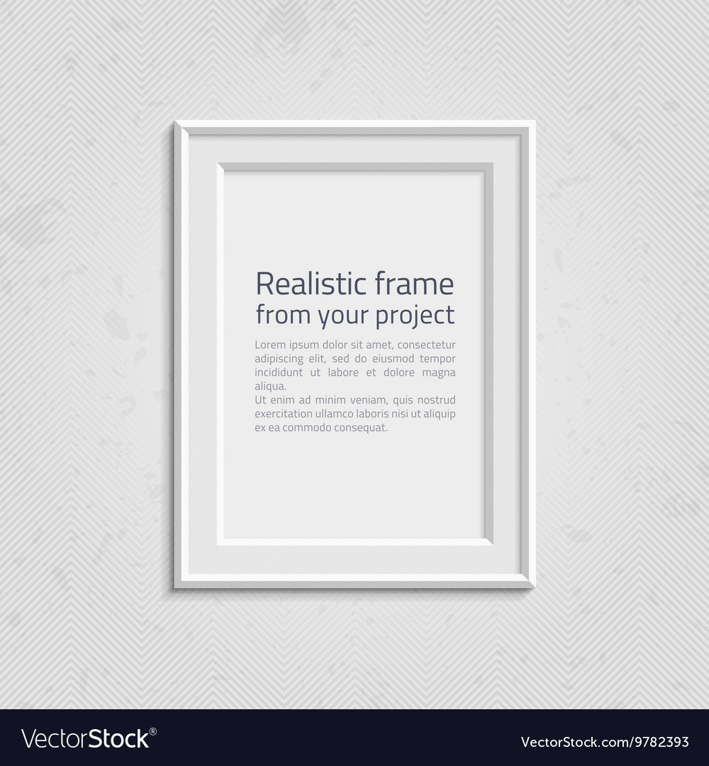 Realistic picture frame with text