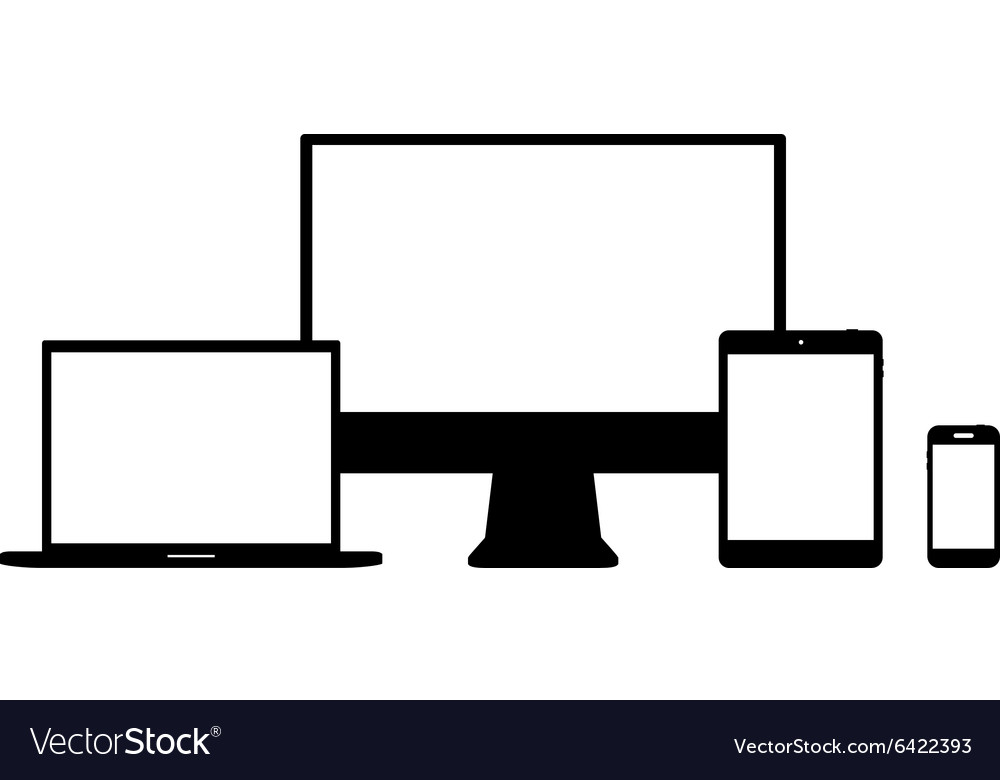 Set of Modern Digital devices Electronic vector image