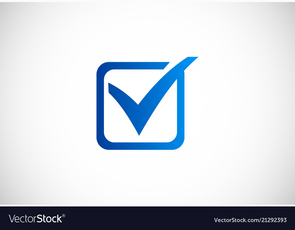 Square check list logo