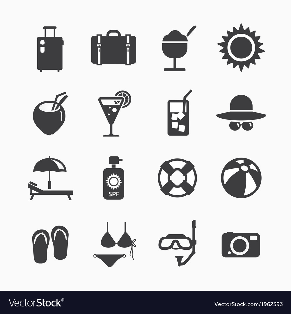 Summer Icons Set design Icons for web