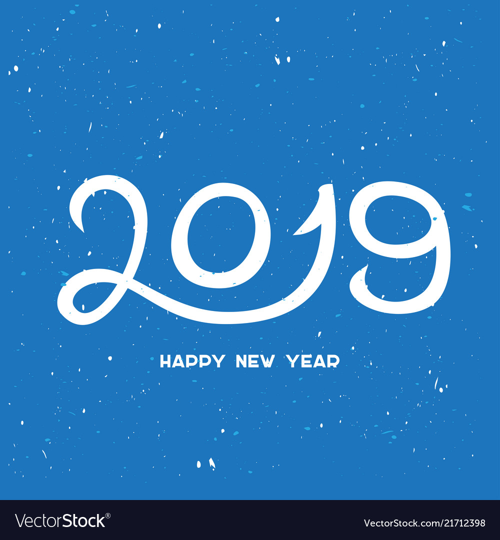2019 happy new year with snowflakes happy new