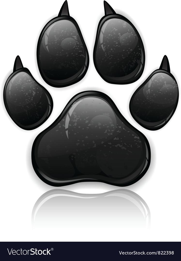 Black paw vector image