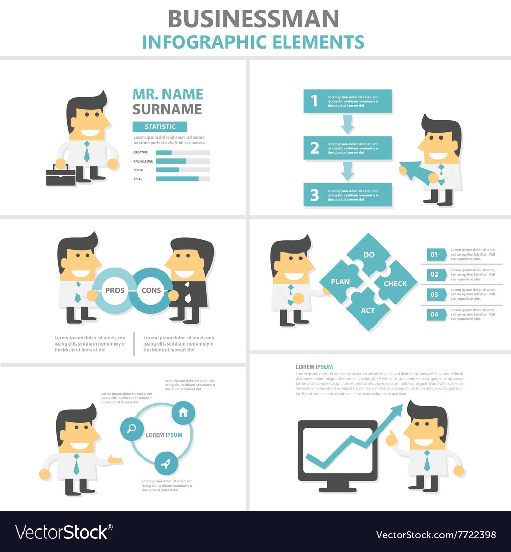 Business activity Infographic elements templates