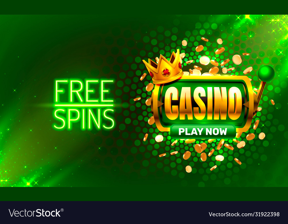 Casino Free Spins 777 Slot Sign Machine Royalty Free Vector