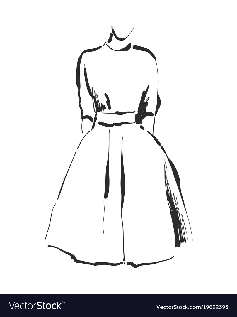 how to make dress sketches