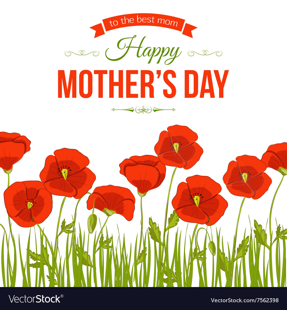 Happy Mothers Day Typographical Background