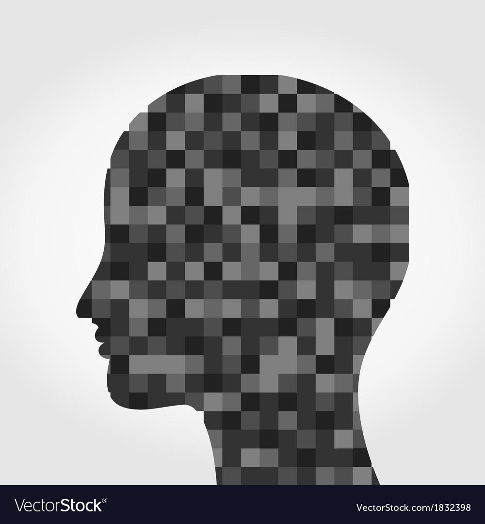 Head a mosaic