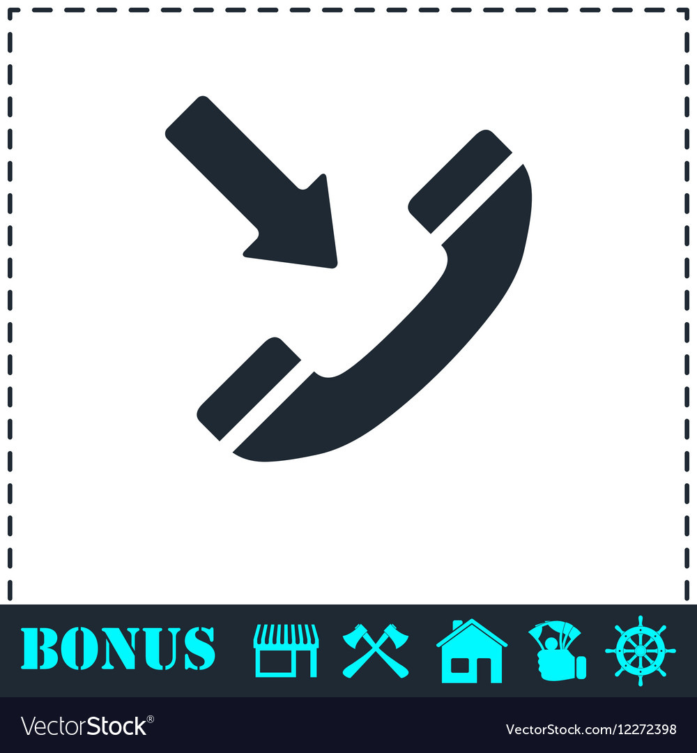 Incoming call icon flat vector image