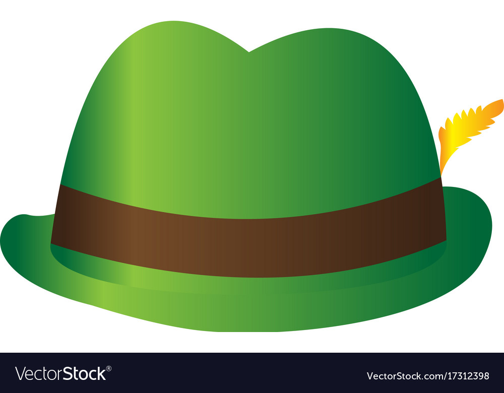 Traditional oktoberfest hat Royalty Free Vector Image 7fbb6a83d17