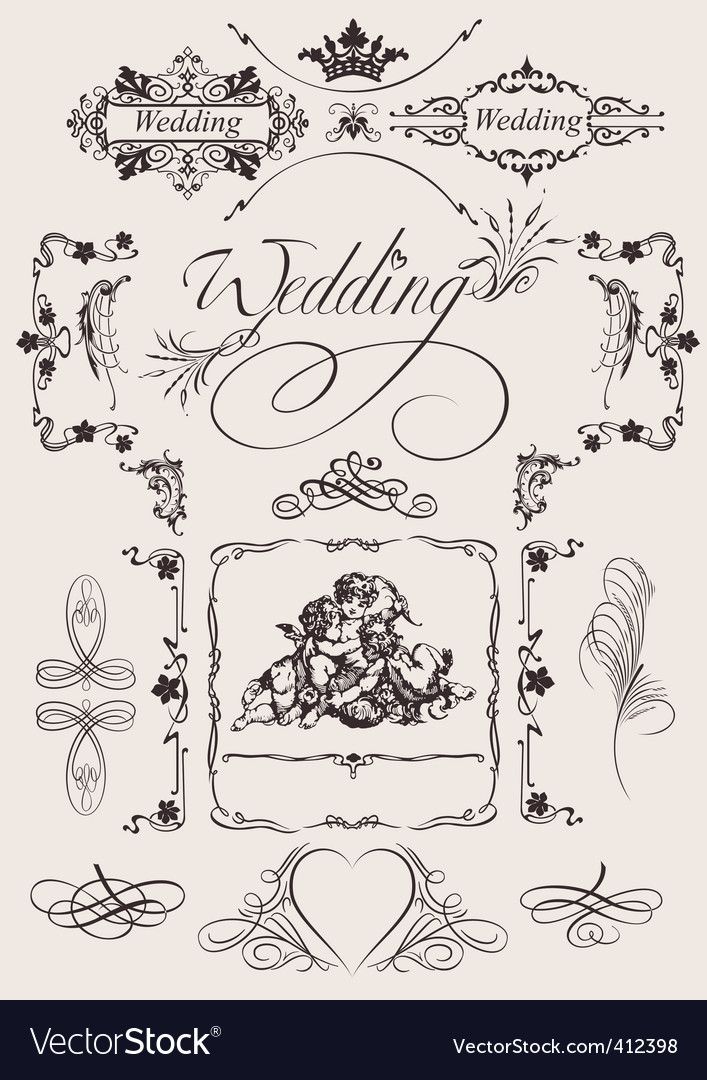 Wedding decoration royalty free vector image vectorstock wedding decoration vector image junglespirit Images