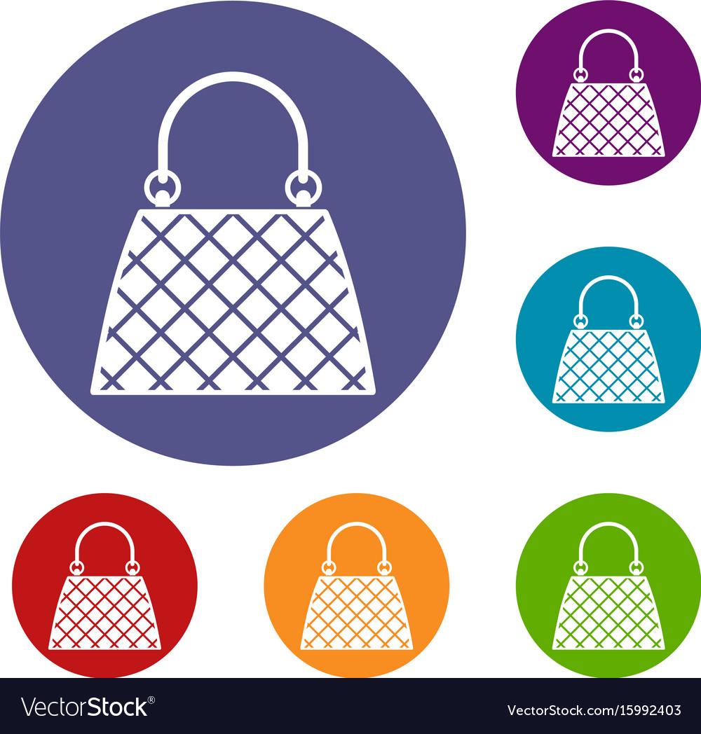 Beautiful bag icons set