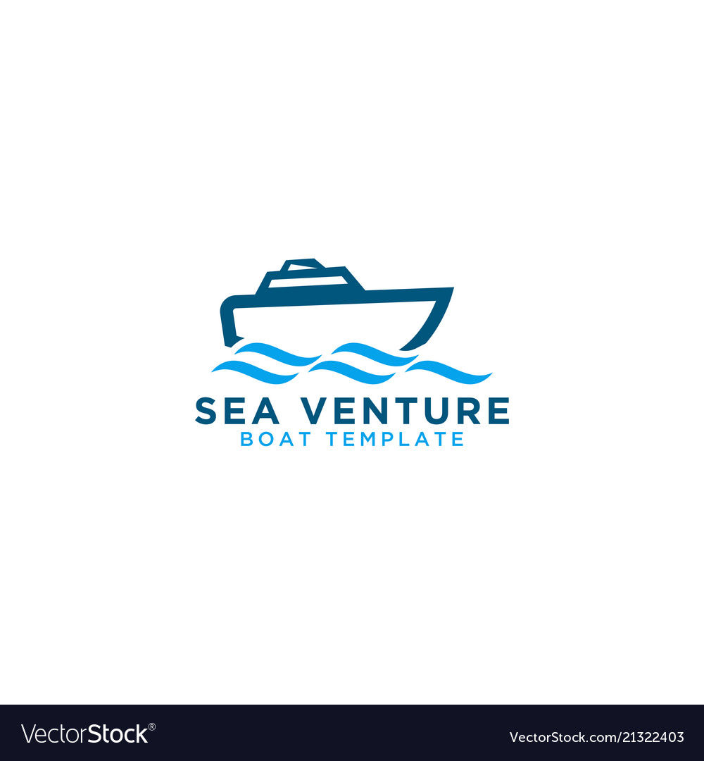 Boat graphic design template