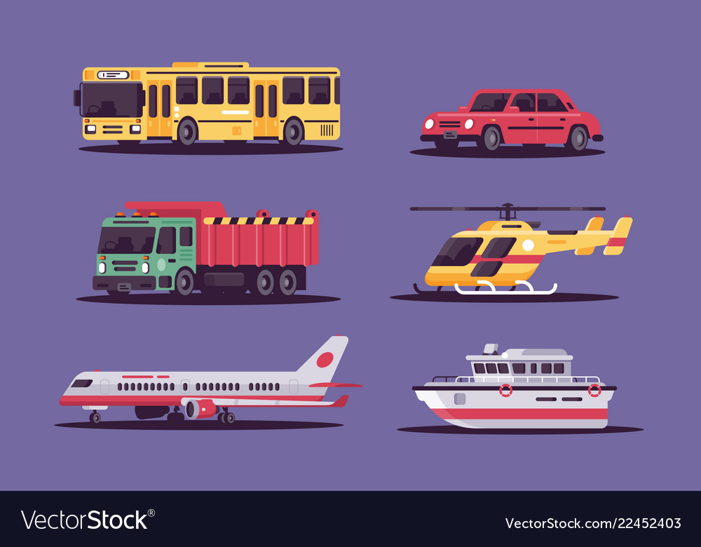 Collection includes air land and sea transport