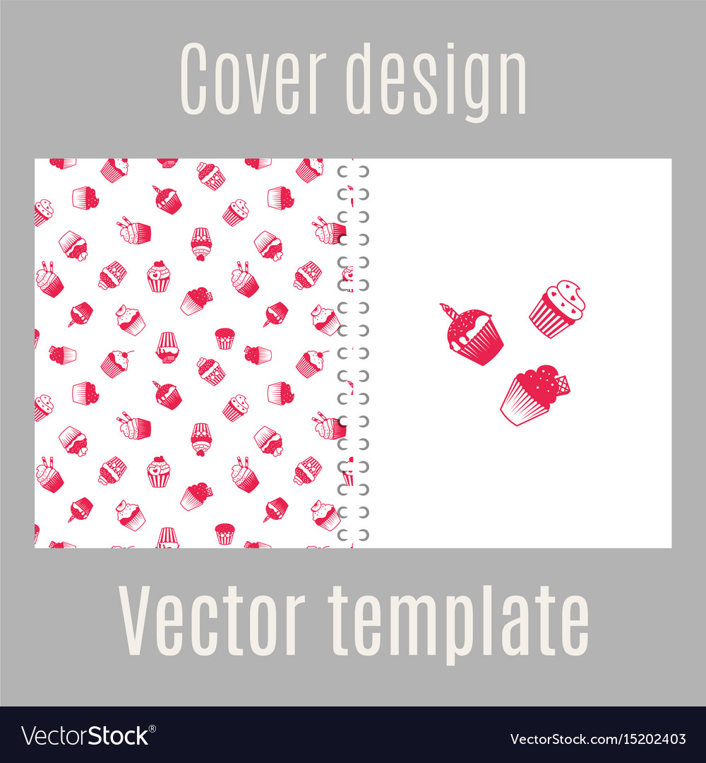 Cover design with pink muffins