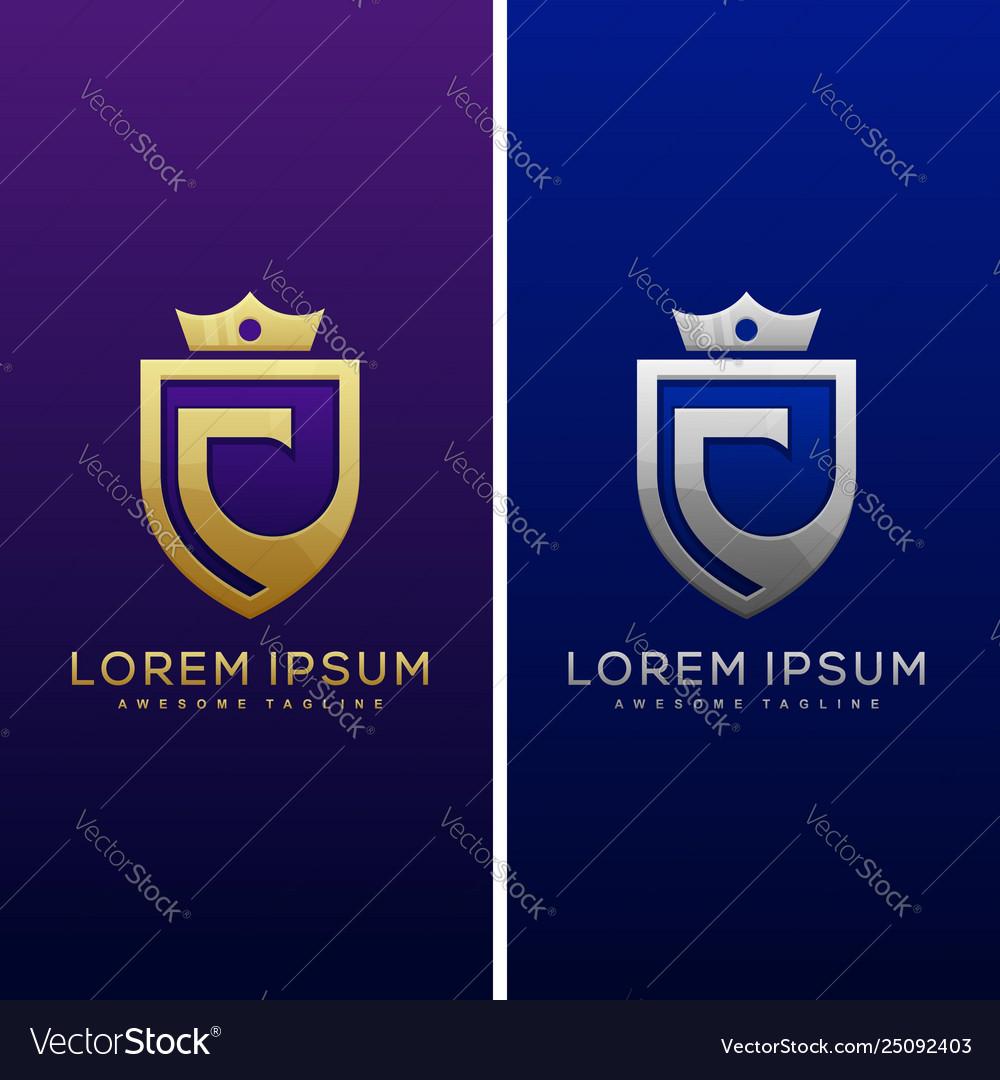 Luxury letter c concept design template