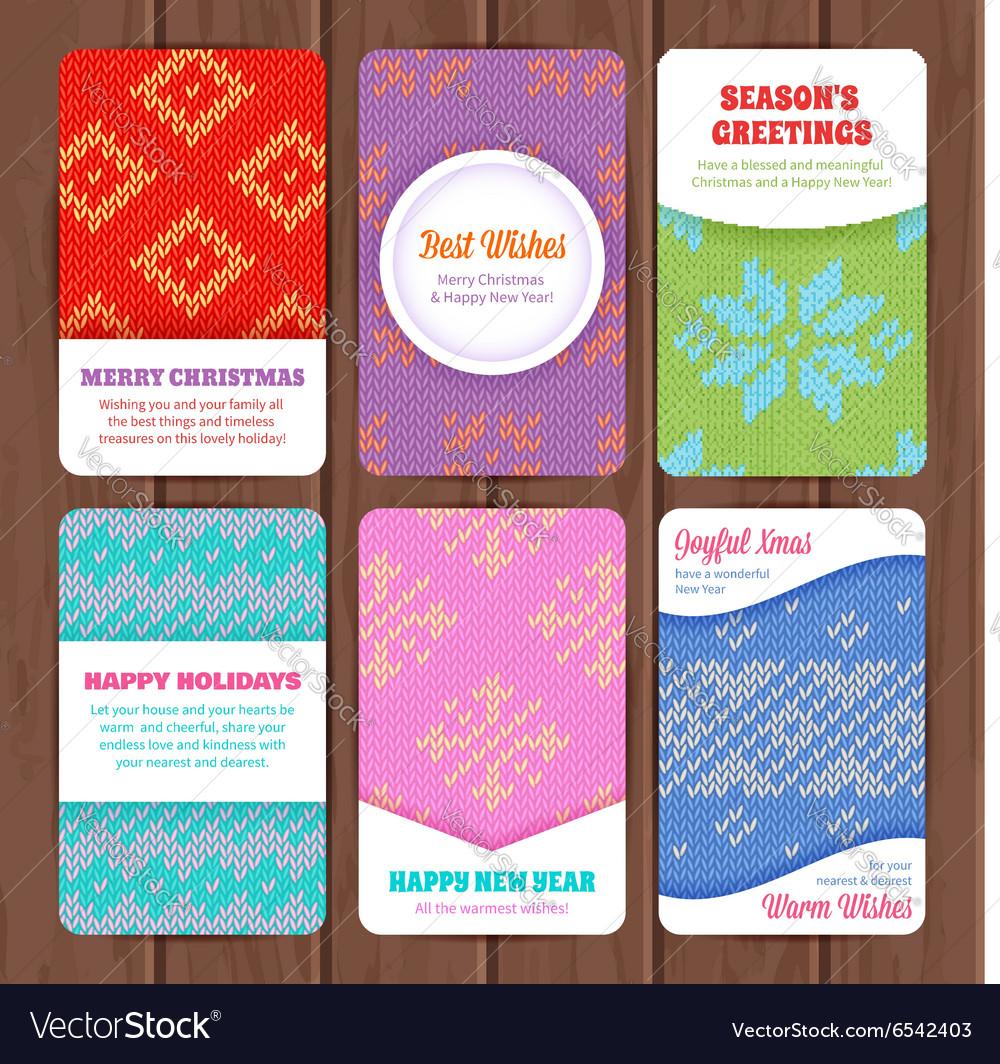 Seamless winter knitted pattern