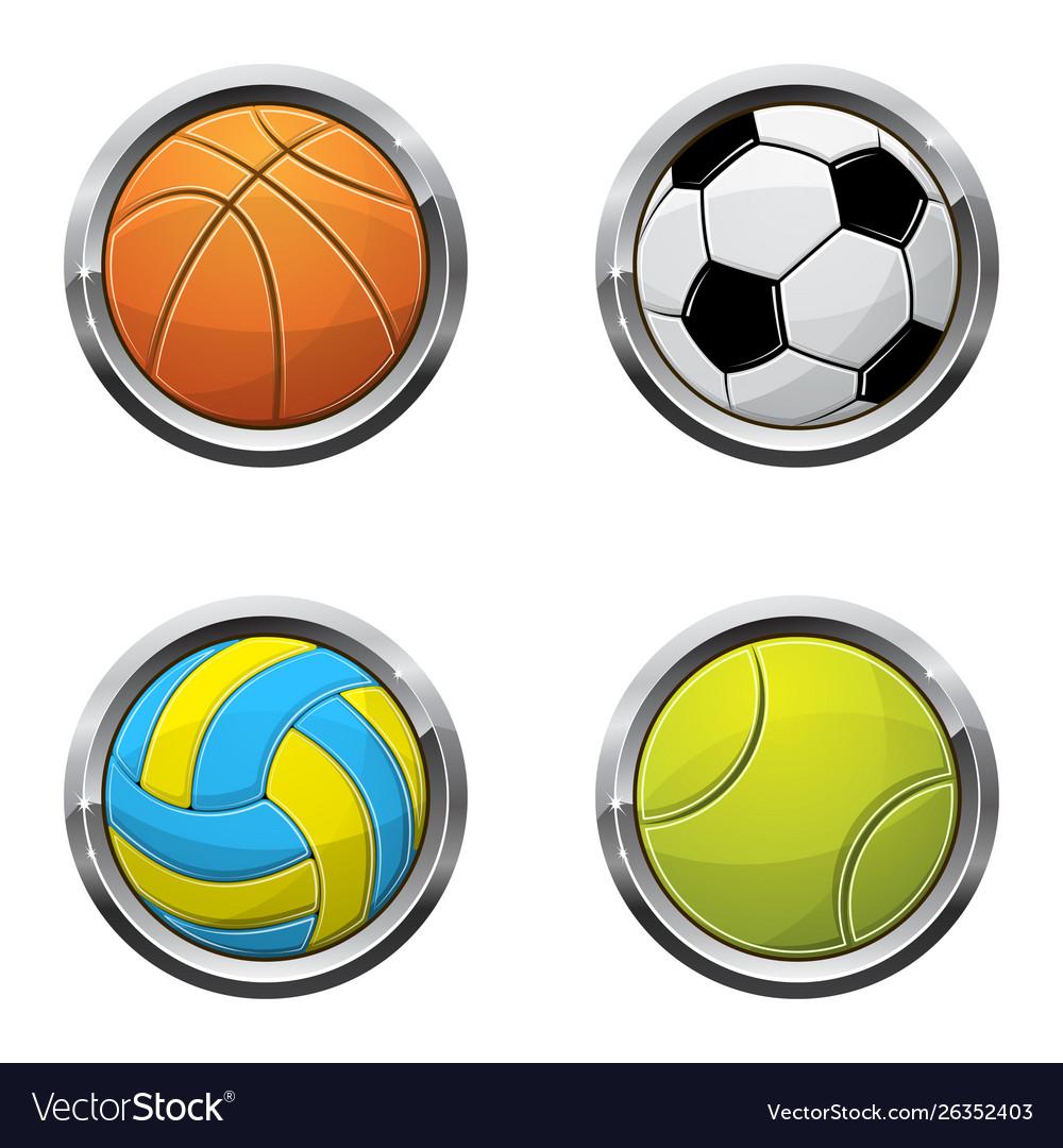 Sport ball buttons