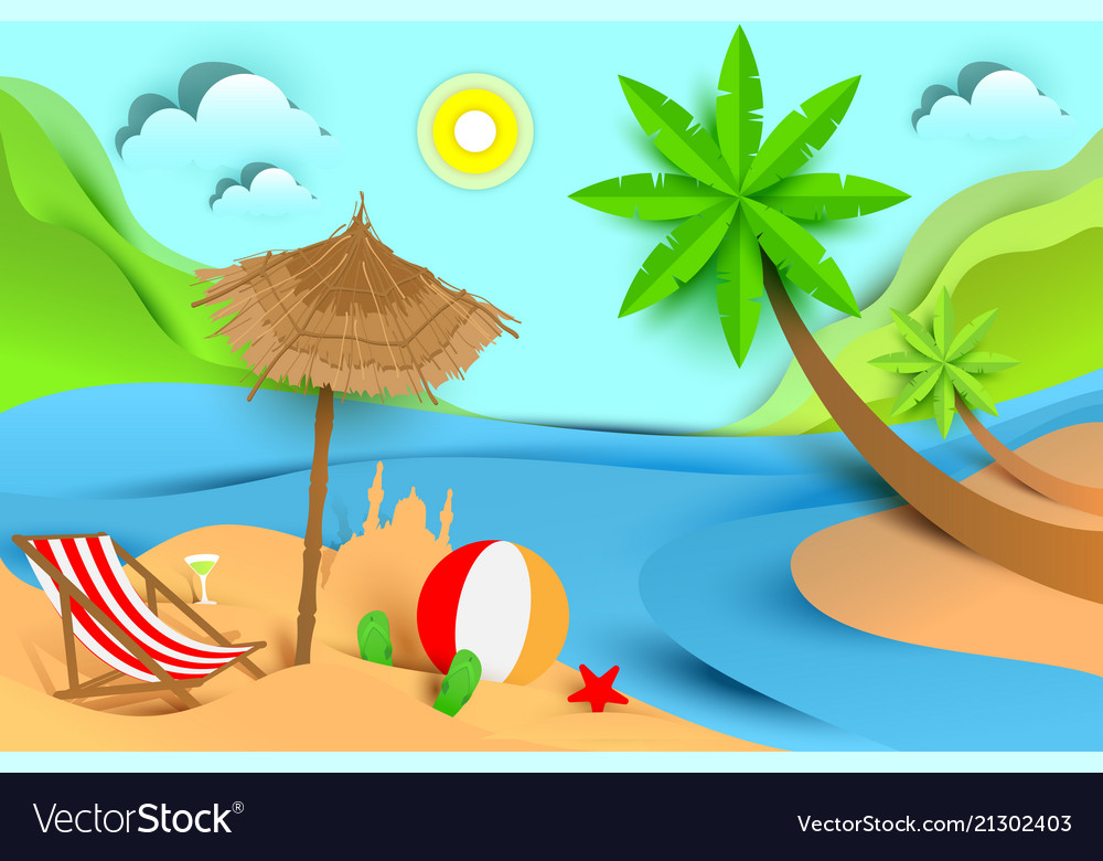 Summer beach holiday vacation tropical landscape