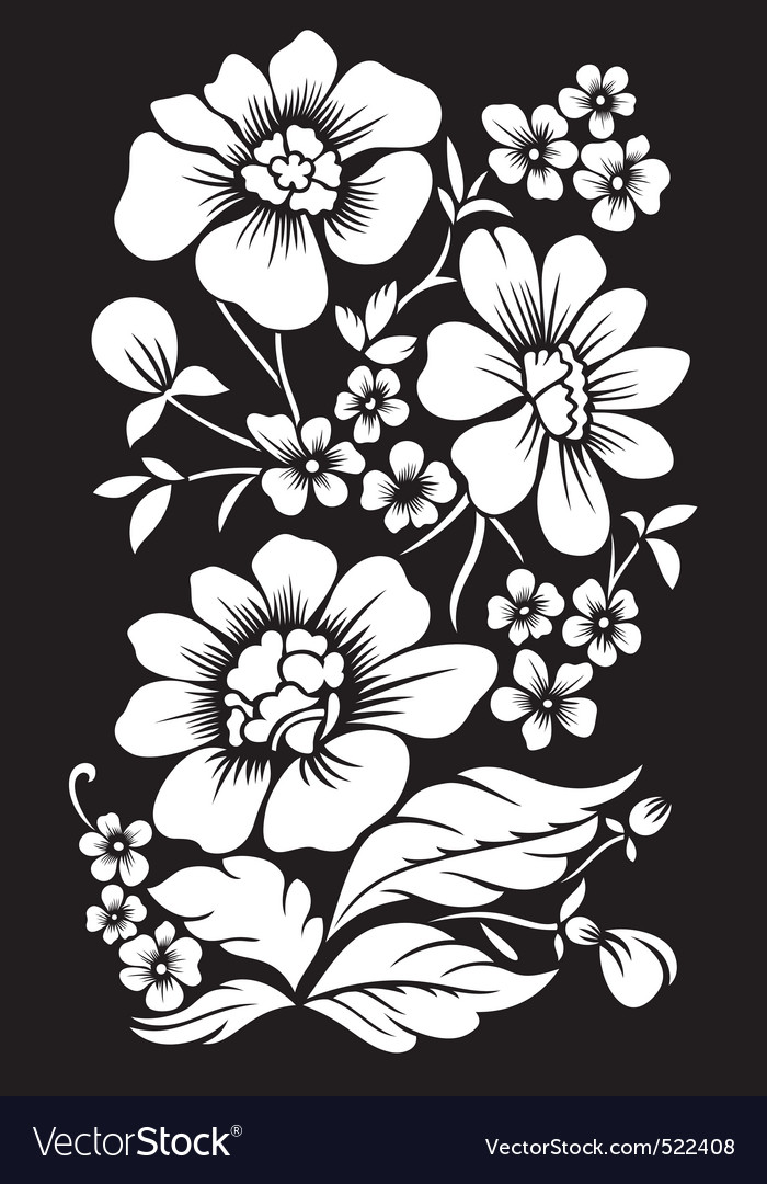 background with white flowers royalty free vector image