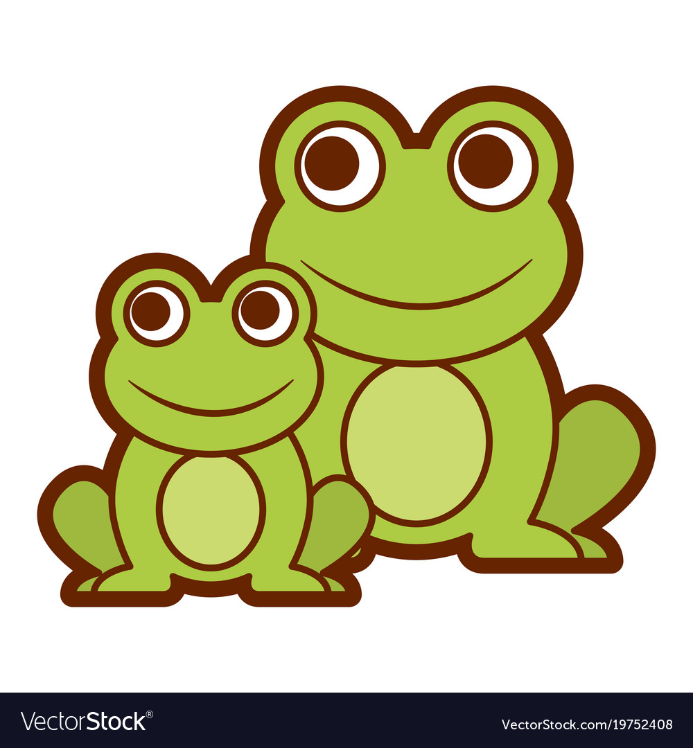 frogs cute animal sitting cartoon royalty free vector image