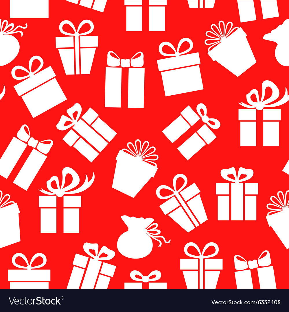 Gift pattern red vector image