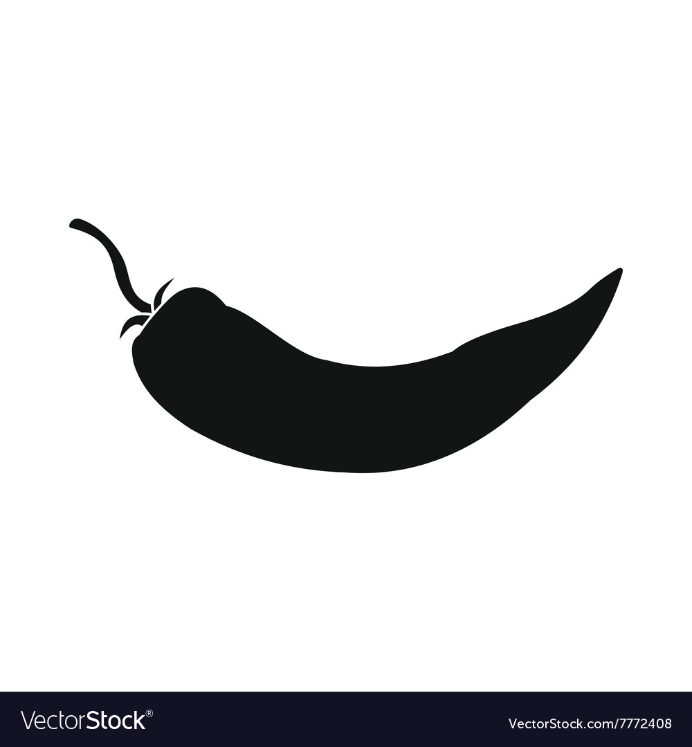 Hot chili pepper icon simple style