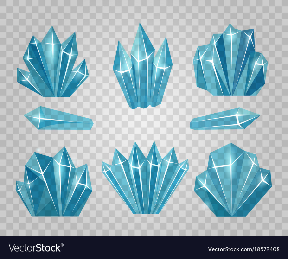 80294410de1f Ice crystals isolated on transparent background Vector Image