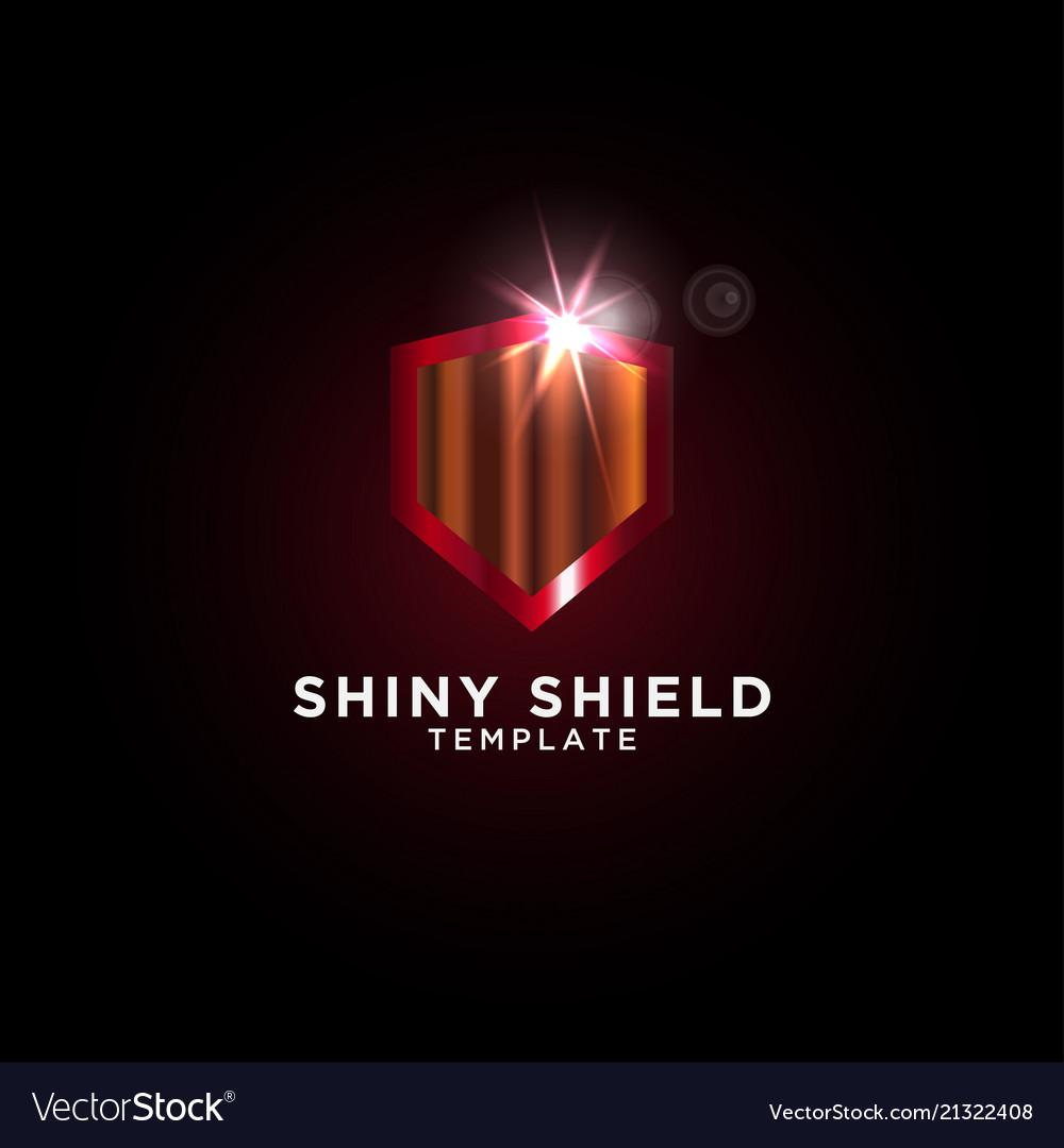 Luxury shield graphic design template